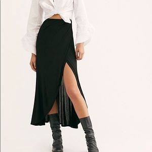 NWT Free People Smoke and Mirrors Maxi Skirt